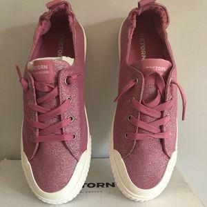 Tretorn Meg4 Rosado Glitter Cotton Sneakers 9.5